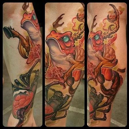 Andy Chambers - Frog Collaboration Tattoo