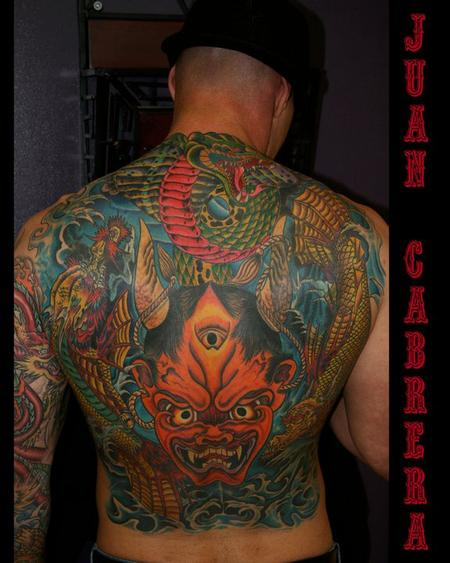 Tattoos - Japanese inspired back piece  - 78742