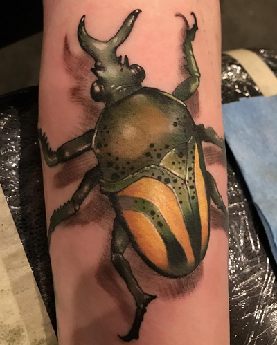 Damon Conklin - Beetle Tattoo