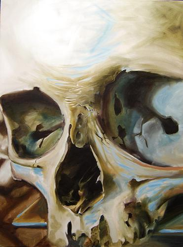 Damon Conklin - Skull Oil Painting