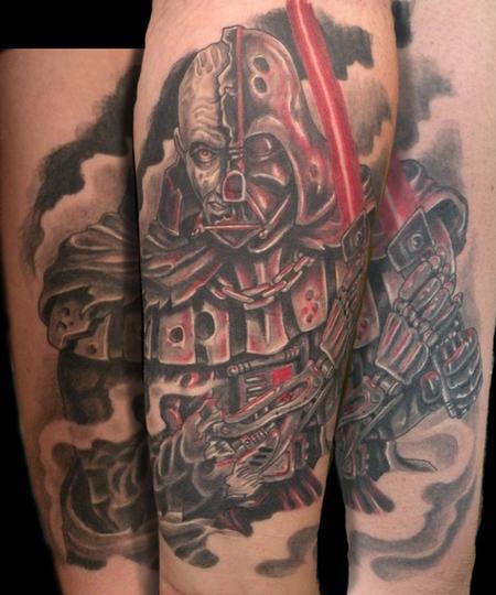Tattoos - custom battle damaged Darth Vader - 63219