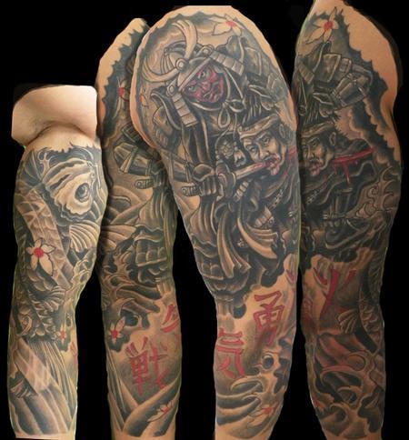 Tattoos - samurai sleeve - 64523