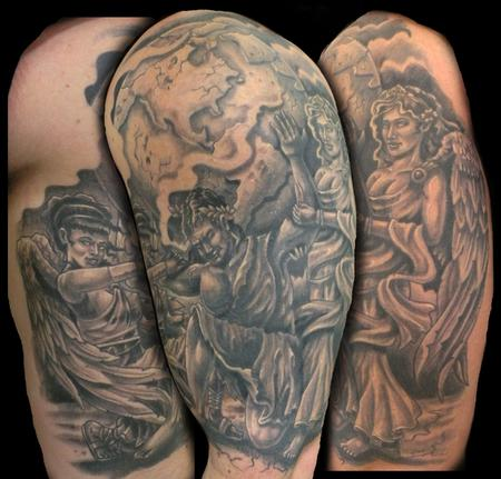 Tattoos - atlas with angels - 64533