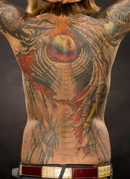 Pavel Angel - Backpiece from Moscow