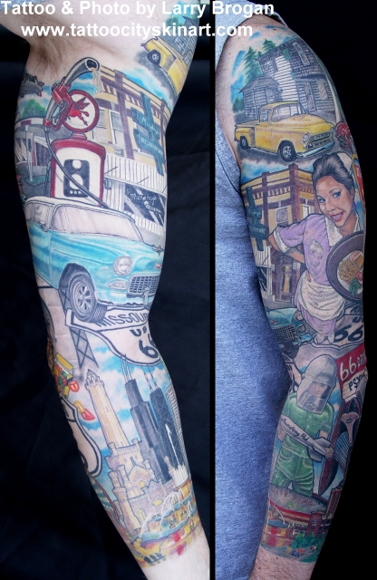 Tattoos - Get your kicks on Route 66 - 7656
