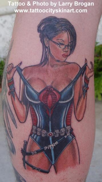 Tattoos - The Baroness from GI Joe - 15285