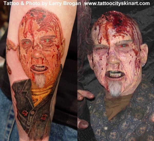 Tattoos - Bob Tyrrell Zombie Portrait - 12209