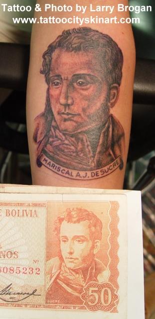 Tattoos - President of Bolivia - 12552