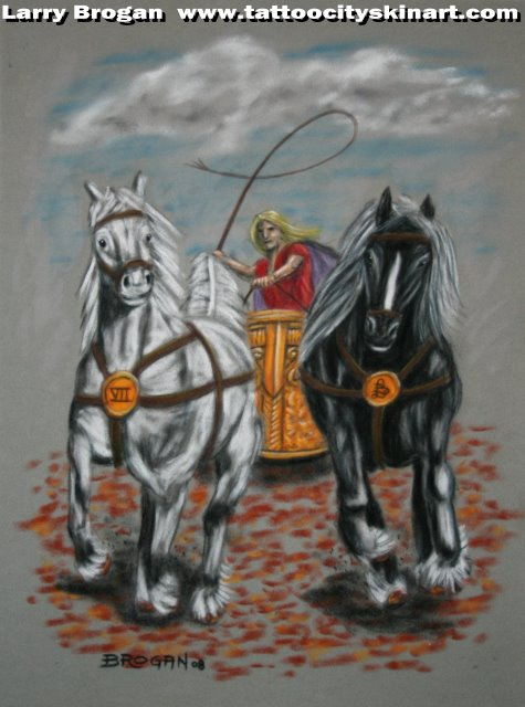 Larry Brogan - Chariot Tarot Card for Tattoo Tarot Project