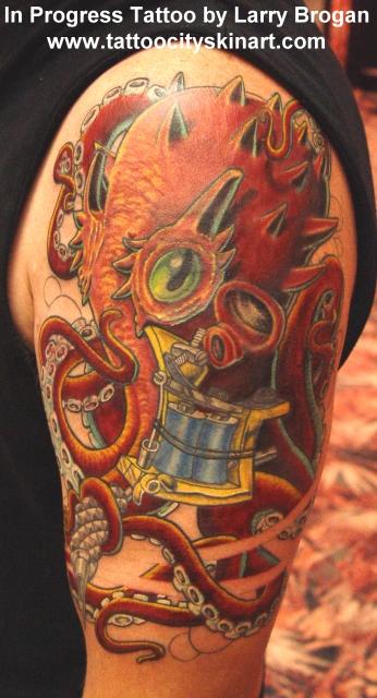 Tattoos - Tattooing Octopus - 14132