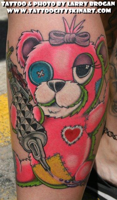 Tattoos - Pink Tattooing Teddy Bear - 30637