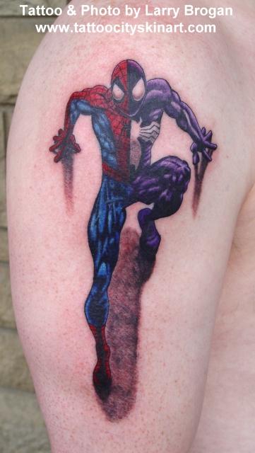 Tattoos - Spiderman - Venom - 13217