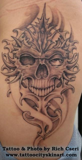 Rich Cseri - Skull with finger waves