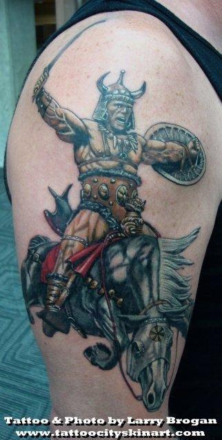 Tattoos - Frank Frazetta Berzerker - 58693