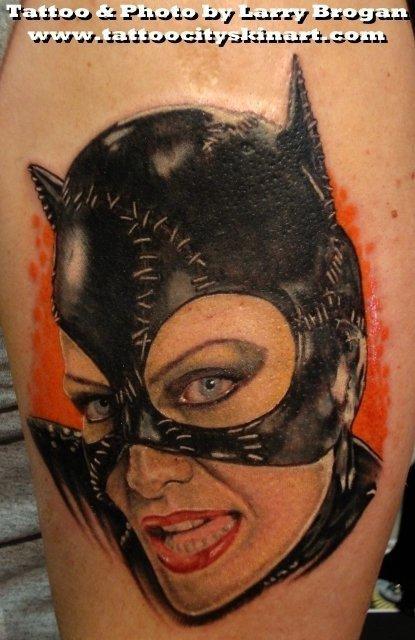 Tattoos - Cat Woman Portrait - 58692