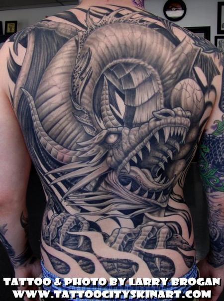 Tattoos - Black Dragon - 58676