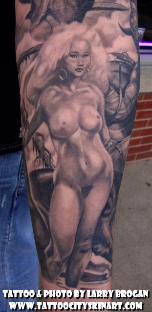 Tattoos - Detail of Frank Frazetta Sleeve - 58680