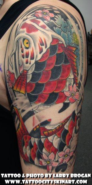 Tattoos - Koi Fish Coverup - 66806
