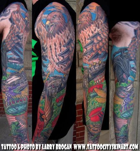 Tattoos - Wildlife Sleeve - 66810