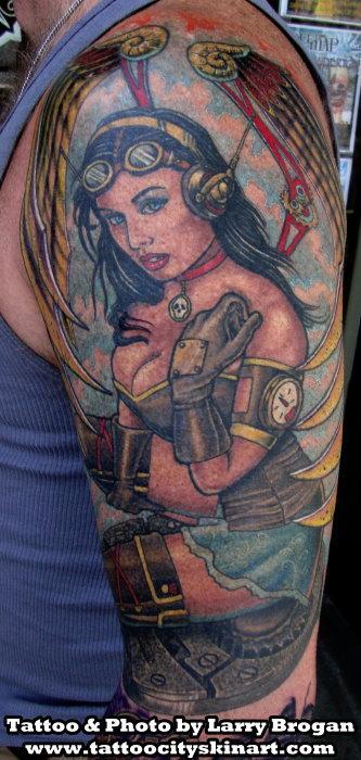 Tattoos - Steam Punk Angel - 68383