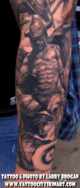 Tattoos - Detail of Frank Frazetta Sleeve - 58681