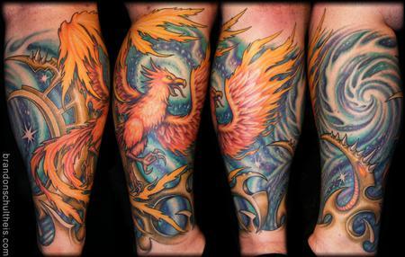 Tattoos - Phoenix & Space Tattoo - 59834