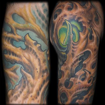 Tattoos - Bio Organic Half Sleeve Details - 95845