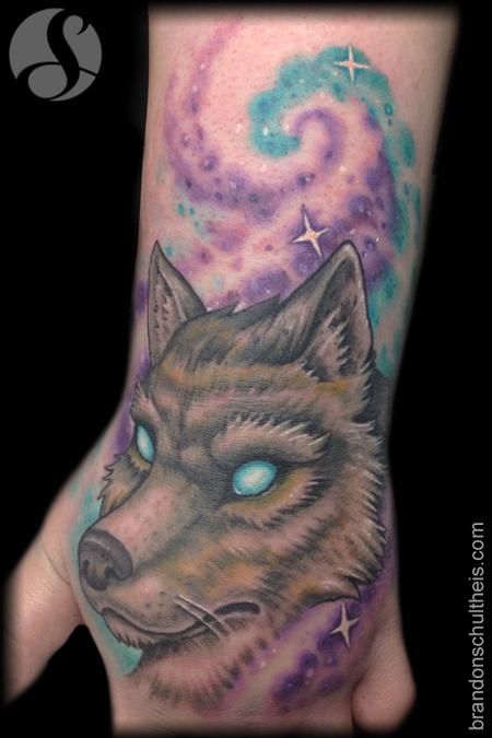 Tattoos - Wolf Hand Tattoo - 75858