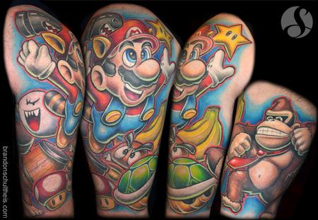 Tattoos - Nintendo Half Sleeve - 74791