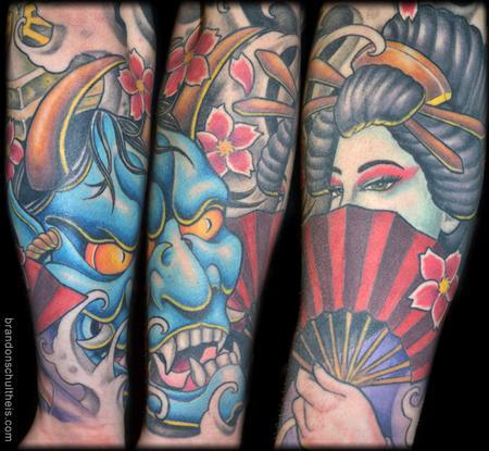 Tattoos - Japanese Sleeve Lower Arm - 64090