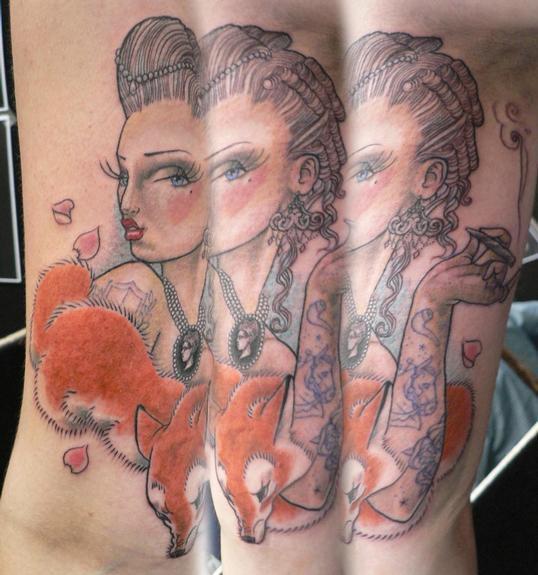 Tattoos - fox tattoo - 53266