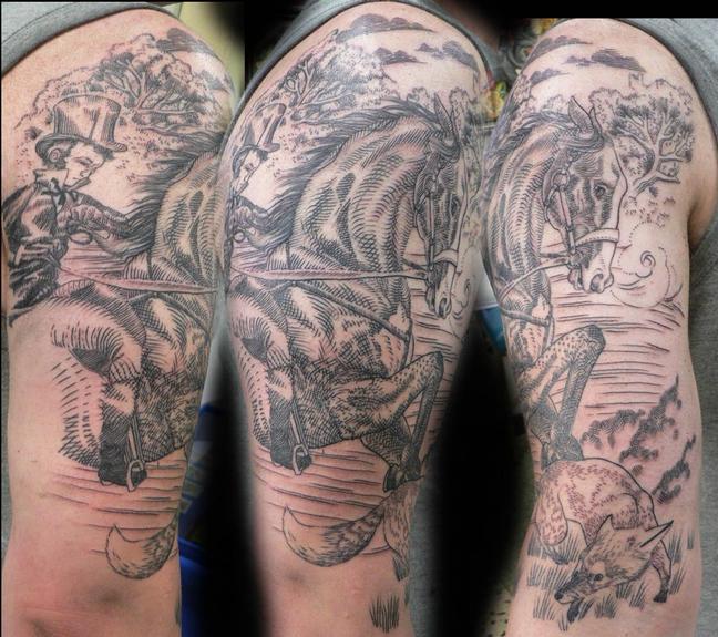 Tattoos - Etching hunter tattoo - 53264