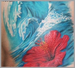 SangLee Kang - Water and Flower Tattoo