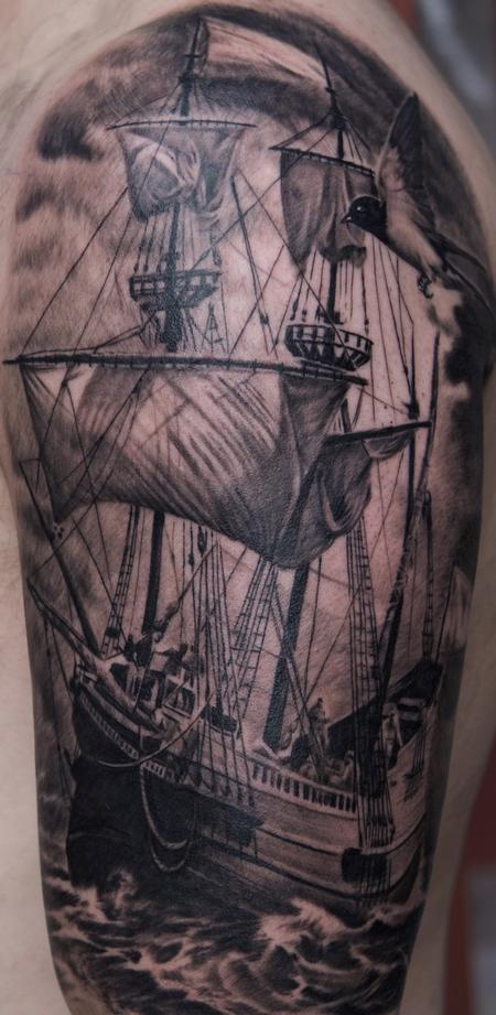 Tattoos - Ship Tattoo - 59981