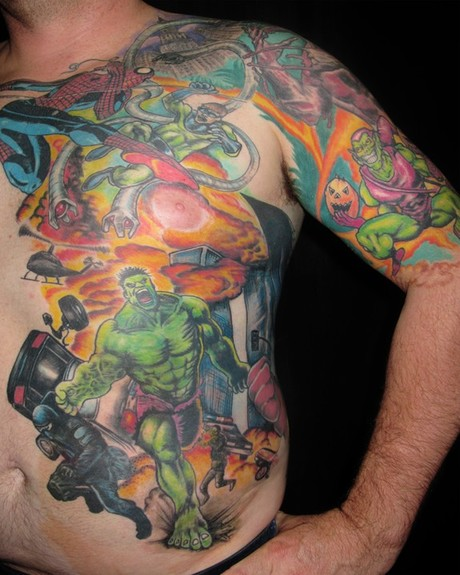 Asho Libre - The Hulk Tattoo