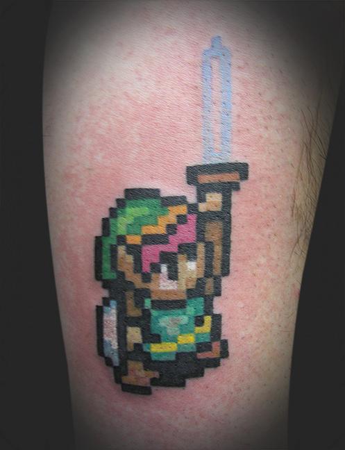 16 Bit Link From Legend Of Zelda By James Rowe Tattoonow