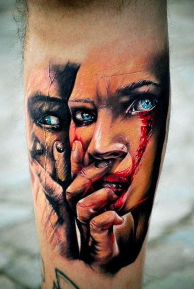 Tattoos - Mirrored face - 49747