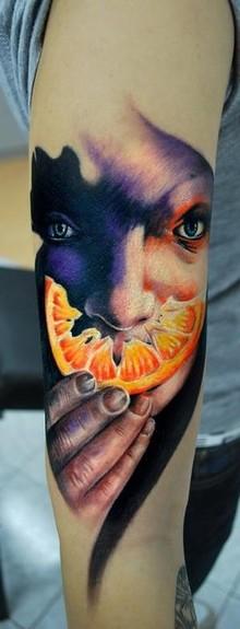 Tattoos - orange peel tattoo - 49749