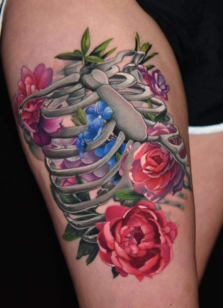 Tattoos - Floral Ribcage - 136213