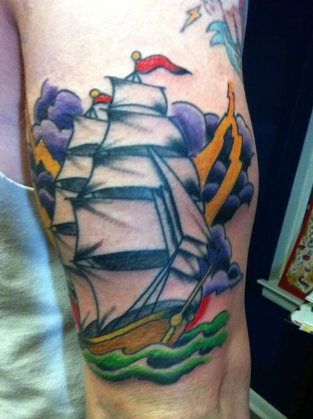 Tattoos - Color Ship Tattoo - 60943