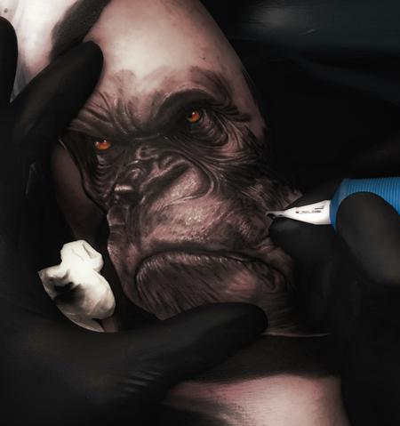 Tattoos - gorilla - 128122