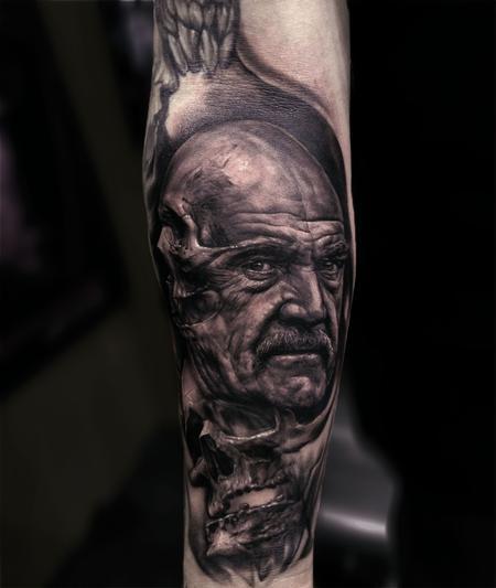 Tattoos - Sean Connery Skull Tattoo - 115685