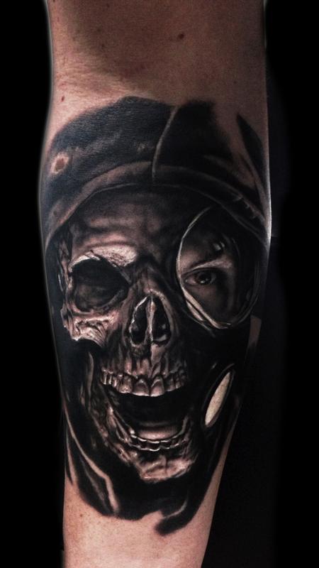Tattoos - Skull Gas Mask Tattoo - 115691