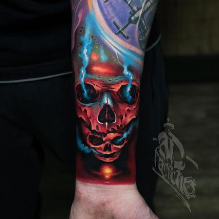Tattoos - Red Skull Tattoo - 140263