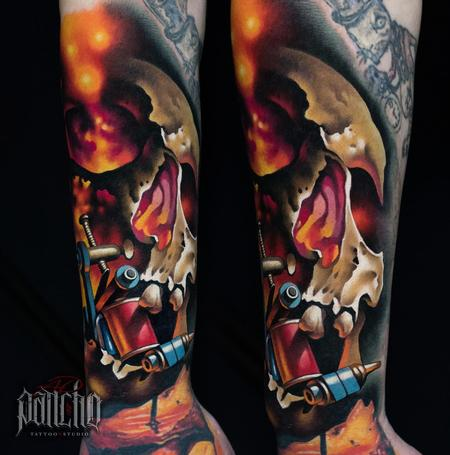 Tattoos - Skull Tattoo Machine - 140260