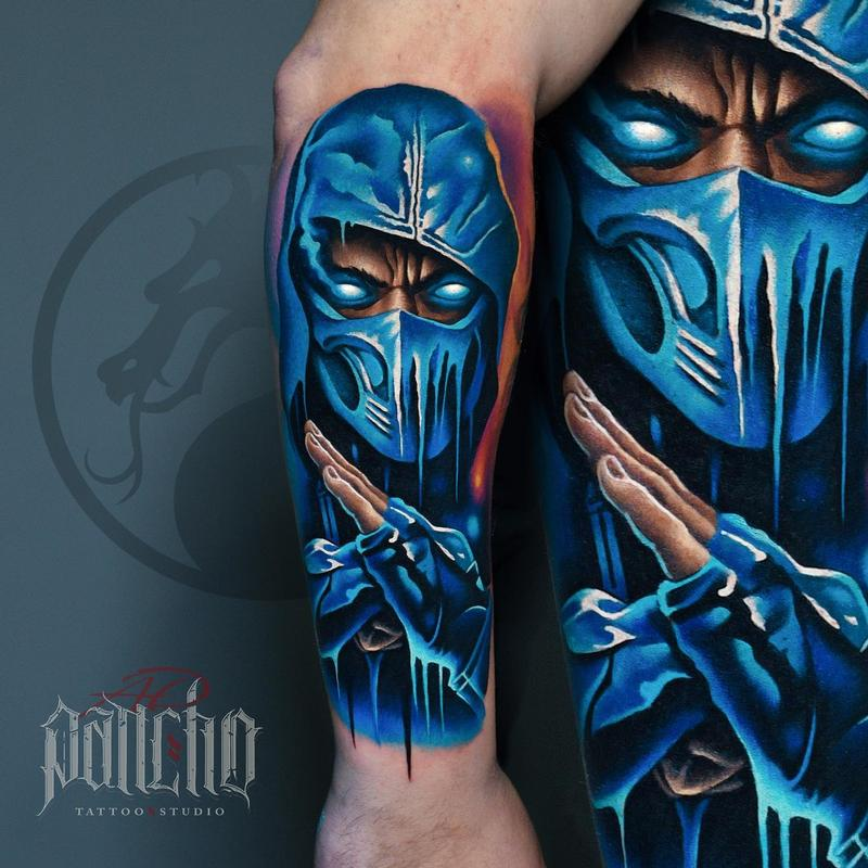 Sub Zero Mortal Combat Tattoo By A D Pancho Tattoonow