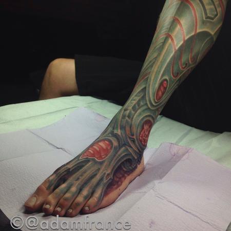 Tattoos - Robotic foot and leg - 109393