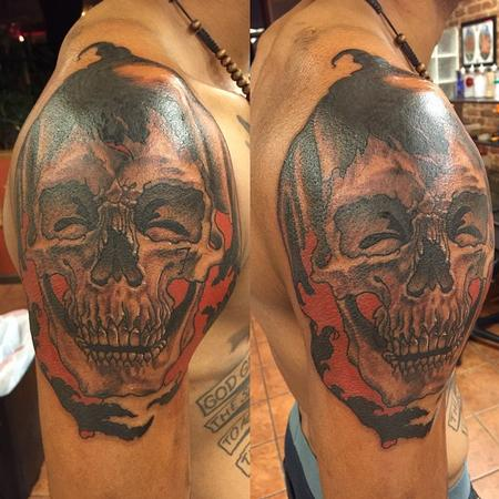 Tattoos - Reaper Shoulder Cap - 109513