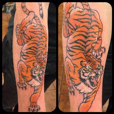 Tattoos - Arm Tiger Color - 109334