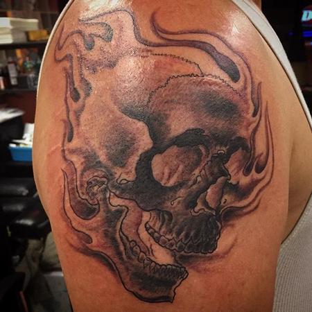 Tattoos - Flaming Skull - 117205